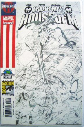 Spider-man House of M #1 Wizard World Chicago Sketch Variant